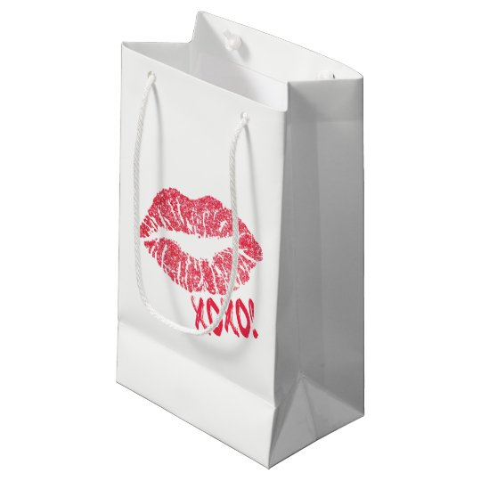 Small, Lips xoxo. Small Gift Bag