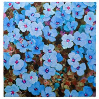 Small Lite Blue Flowers Napkin