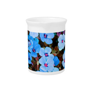 Small Lite Blue Flowers Pitcher