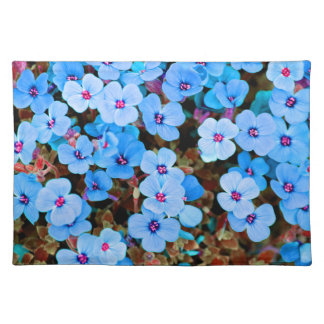 Small Lite Blue Flowers Placemat