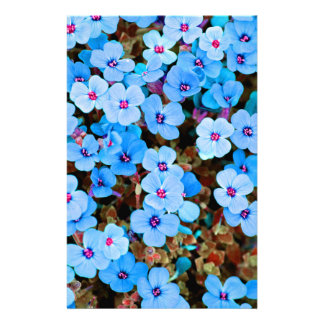 Small Lite Blue Flowers Stationery