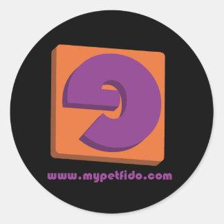 small logo 3d round sticker