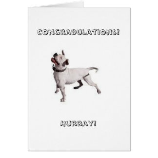 small logo, Congradulations!Hurray! Card