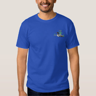 Small Loon Scene Embroidered T-Shirt
