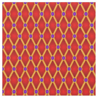 Small Lozenges Red/Purple Fabric