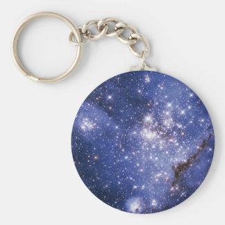 Small Magellanic Cloud Basic Round Button Key Ring