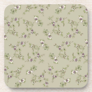 Small mauve flowers drink coaster
