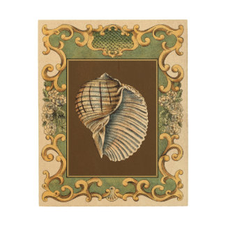 Small Mermaid's Shells Wood Prints