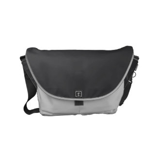 "Small Messenger Bag: ""CHARCOAL GRAY & SILVER DUST"" Messenger Bag"