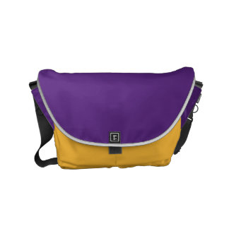 "Small Messenger Bag: ""DARK PURPLE & SAFFRON"" Courier Bags"