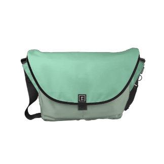"""Small Messenger Bag: """"MINT GREEN & SAGE"""" Commuter Bag"""