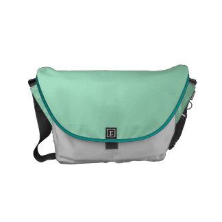 """Small Messenger Bag: """"MINT GREEN & SILVER DUST"""" Messenger Bags"""