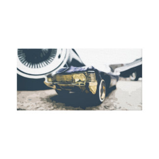 Small Muscle Car Among Big Muscle Cars Canvas