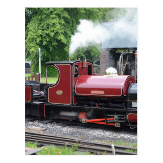 Small Narrow Gauge Locomotive Post Card