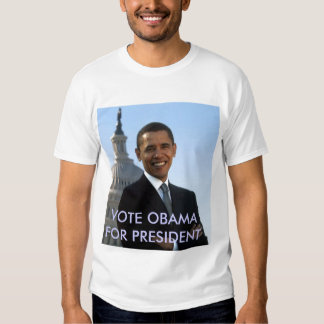 small_obama_image, VOTE OBAMA FOR PRESIDENT Shirts