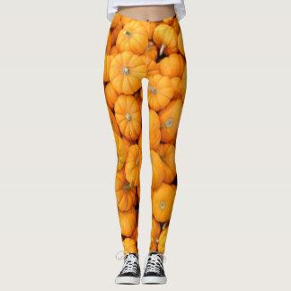 Small Orange Fall Harvest Pumpkins Leggings