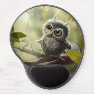 Small owl/Little Owl Gel Mouse Pad