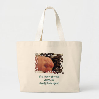 Small Packages Best Things tote bag