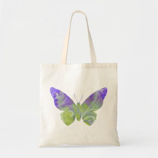 Small Pastel Purple Butterfly Tote