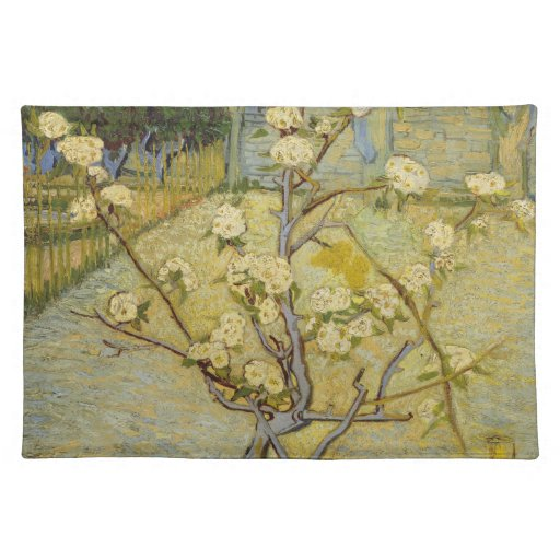 Small pear tree in blossom American MoJo Placemat