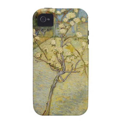 Small pear tree in blossom iPhone 4 Case