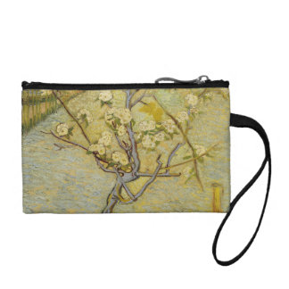 Small pear tree in blossom Key Coin Clutch Coin Wallet