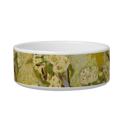 Small pear tree in blossom Pet Bowl