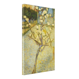 Small Pear Tree in Blossom Van Gogh Fine Art Canvas Print