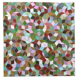 Small Penrose Tiling Pattern Cloth Napkins
