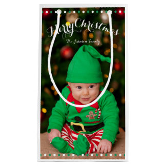 Small Personalized Christmas Gift Bags