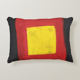 Small Pillow Red, Black and Yellow.