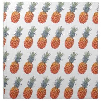 Small Pineapple Print Napkin