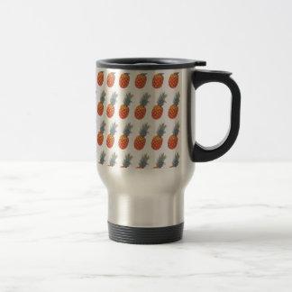 Small Pineapple Print Travel Mug