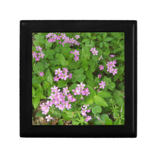 Small pink delicate wildflowers gift box