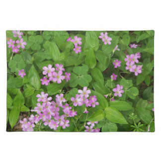 Small pink delicate wildflowers placemat
