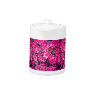 Small Pink Floral Tea Pot