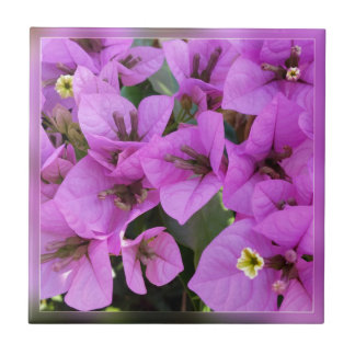 small pink flowers ceramic tile