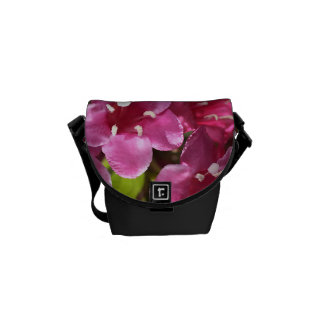 Small Pink Flowers in Bloom Mini Messenger Bag