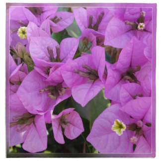 small pink flowers napkin