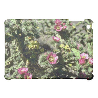 Small Pink Flowers On Cactus Plant flowers Cover For The iPad Mini