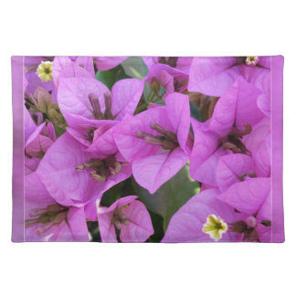small pink flowers placemat