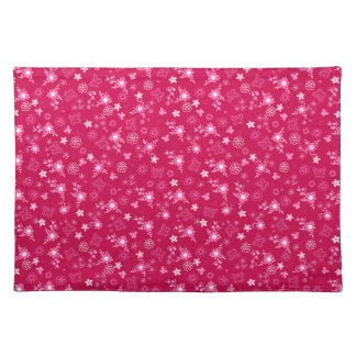 Small pink flowers placemats
