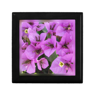 small pink flowers small square gift box