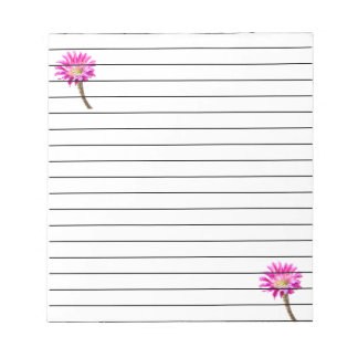 Small pink piazza in bloom notepad