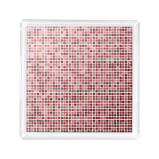 Small Pink Squares Acrylic Tray