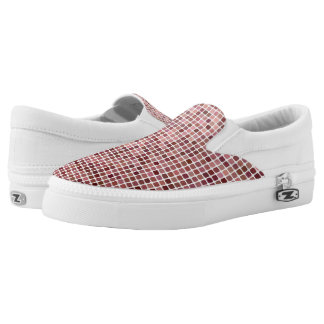 Small Pink Squares Slip-On Shoes