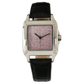Small Pink Squares Watch