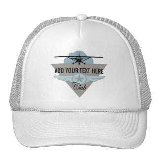 Small Plane Club Your Text Here Hat
