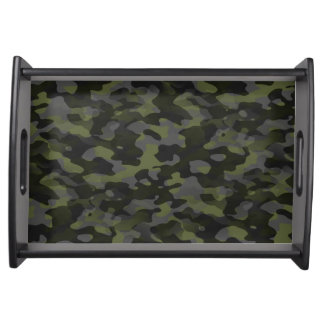 Small Plates of service, Black Camouflage Serving Tray