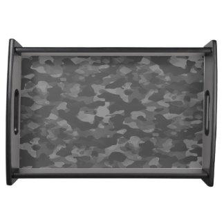 Small Plates of service, Black Gray Camouflage Serving Tray